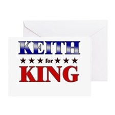 KEITH for king Greeting Card