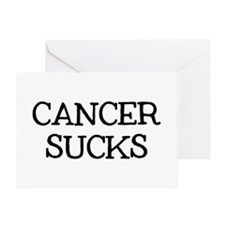 Cancer Sucks Greeting Card