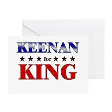 KEENAN for king Greeting Card