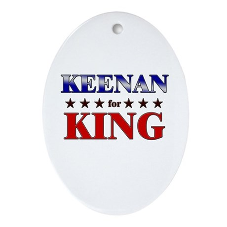 KEENAN for king Oval Ornament