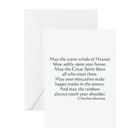 Cherokee Blessing Greeting Cards (Pk of 10)