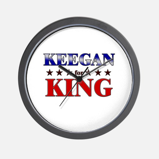 KEEGAN for king Wall Clock