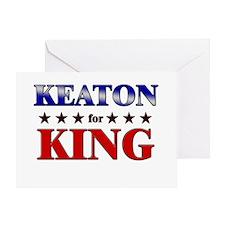 KEATON for king Greeting Card
