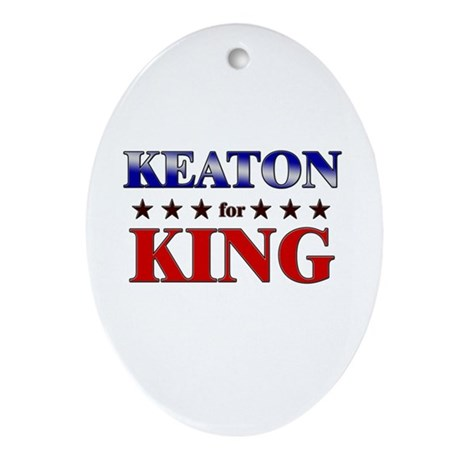 KEATON for king Oval Ornament