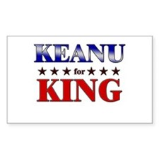 KEANU for king Rectangle Decal