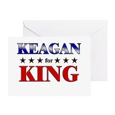 KEAGAN for king Greeting Card