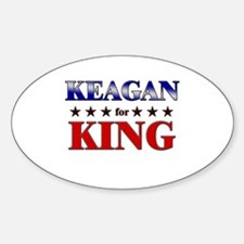 KEAGAN for king Oval Decal