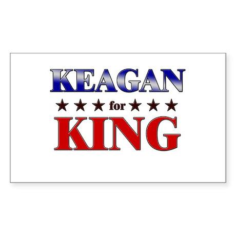 KEAGAN for king Rectangle Sticker