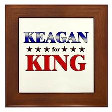 KEAGAN for king Framed Tile