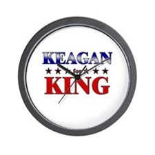 KEAGAN for king Wall Clock