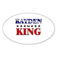 KAYDEN for king Oval Decal