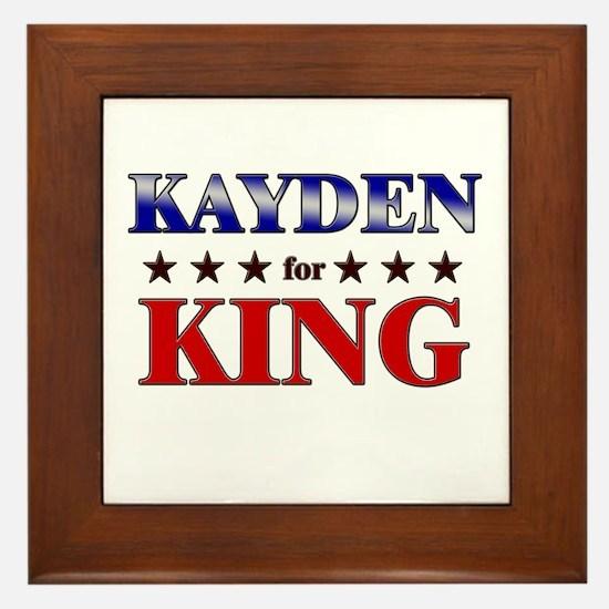 KAYDEN for king Framed Tile