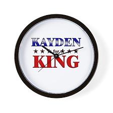 KAYDEN for king Wall Clock