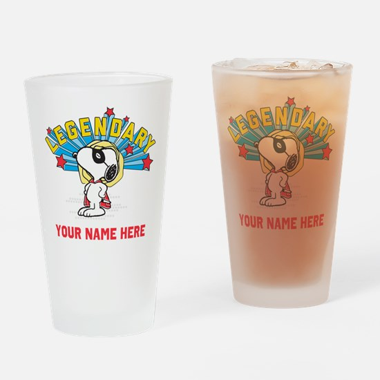 Snoopy Legendary Personalizable Drinking Glass