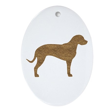 Leopard Spots Catahoula Ornament (Oval)