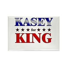 KASEY for king Rectangle Magnet