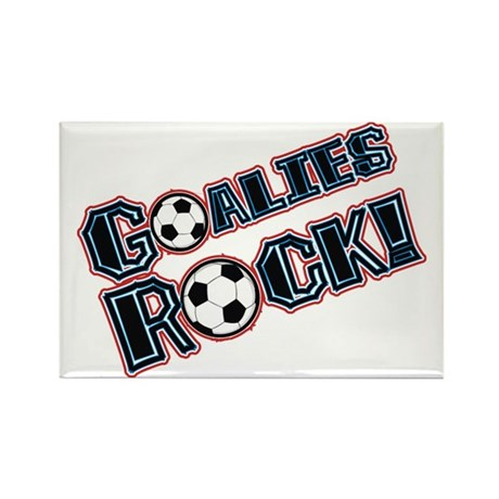 Goalies Rock! Rectangle Magnet (10 pack)