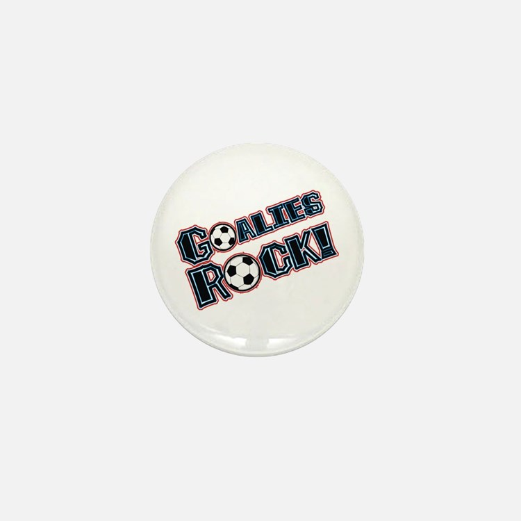 Goalies Rock! Mini Button