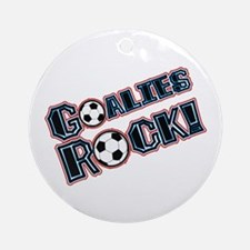 Goalies Rock! Ornament (Round)