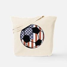 Soccer Ball USA Tote Bag