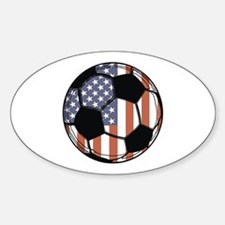 Soccer Ball USA Oval Decal