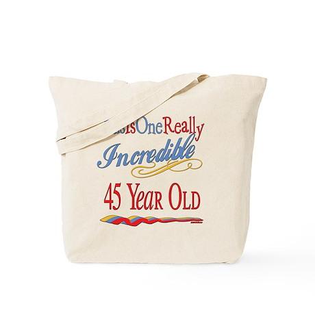 Incredible At 45 Tote Bag