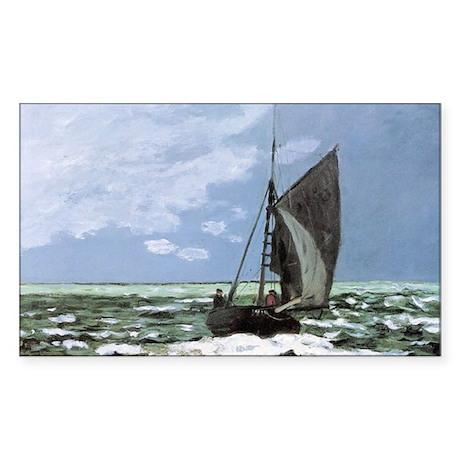 Storm by Monet Rectangle Sticker