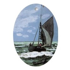 Storm by Monet Oval Ornament