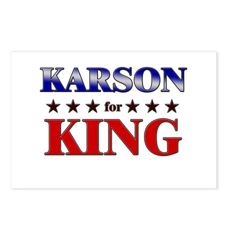 KARSON for king Postcards (Package of 8)