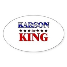 KARSON for king Oval Decal