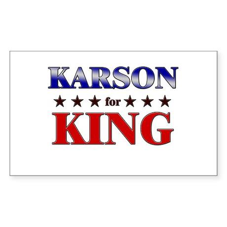 KARSON for king Rectangle Sticker