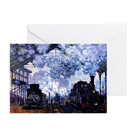 Station Saint Lazare Greeting Cards (Pk of 10)