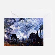 Station Saint Lazare Greeting Card