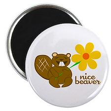 Funny Beaver Magnet
