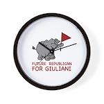 Future Republican for Giuliani Wall Clock