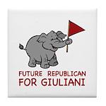 Future Republican for Giuliani Tile Coaster