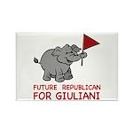 Future Republican for Giuliani Rectangle Magnet (1