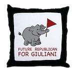 Future Republican for Giuliani Throw Pillow