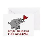 Future Republican for Giuliani Greeting Cards (Pk