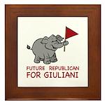 Future Republican for Giuliani Framed Tile