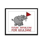 Future Republican for Giuliani Framed Panel Print