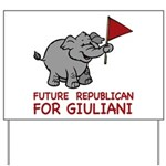 Future Republican for Giuliani Yard Sign