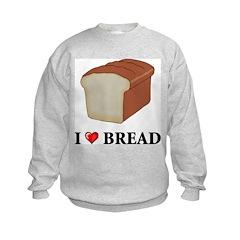 I Love Bread Kids Sweatshirt