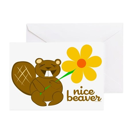 Nice Beaver Greeting Cards (Pk of 10)