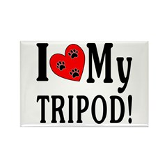 I Love My Tripod! Rectangle Magnet (100 pack)