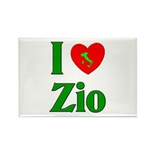I Love (heart) Zio Rectangle Magnet