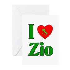 I Love (heart) Zio Greeting Cards (Pk of 20)