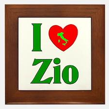 I Love (heart) Zio Framed Tile