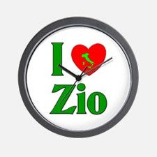 I Love (heart) Zio Wall Clock