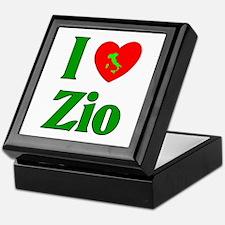 I Love (heart) Zio Keepsake Box
